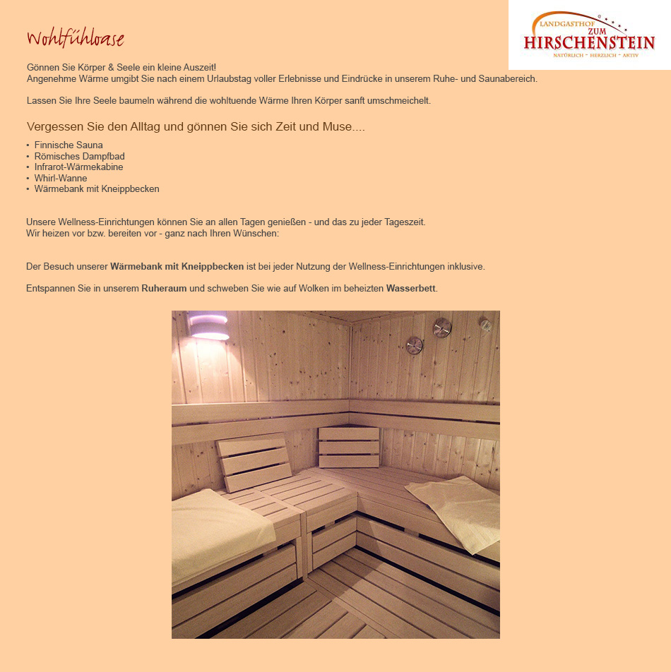 Wellnessurlaub, Sauna in 93104 Sünching
